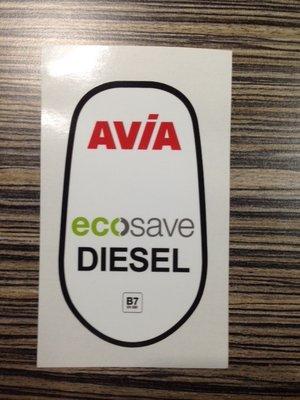 AVIA Ecosave Diesel kleine sticker