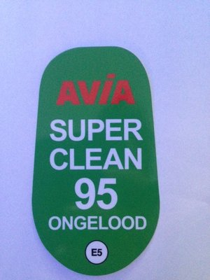 AVIA Sticker Super Clean 95 Ongelood E5