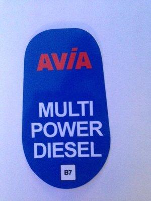 AVIA Sticker Multi Power Diesel B7