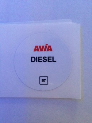 AVIA Nozzlesticker AVIA Diesel B7 art 1023