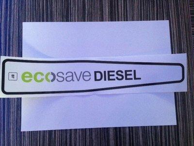AVIA waarschuwings Klepsticker  Ecosave Diesel B7