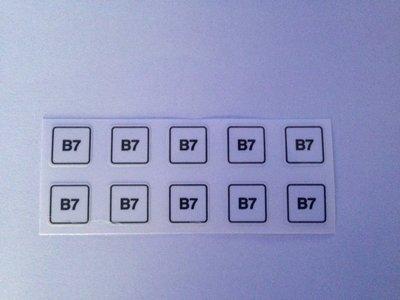 Label sticker nozzle  klein minimum formaat B7 art. 1011