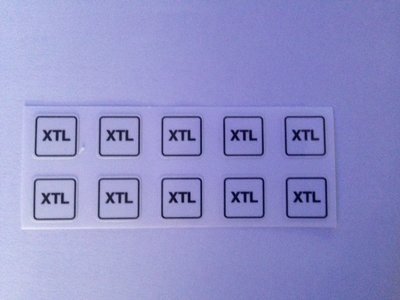 Label sticker nozzle  klein minimum formaat XTL art. 1010