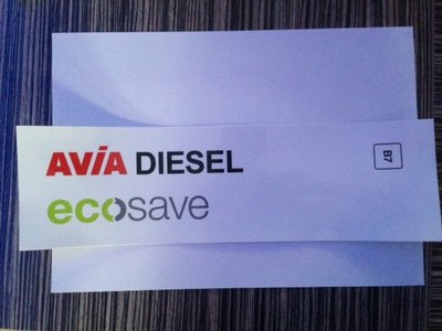 AVIA Product sticker AVIA Diesel Ecosave B7