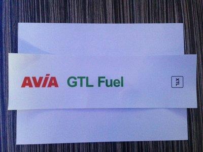 AVIA Product sticker AVIA GTL Fuel XTL