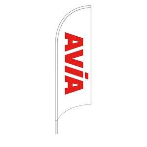 AVIA Beachvlag wit/rood art 1208