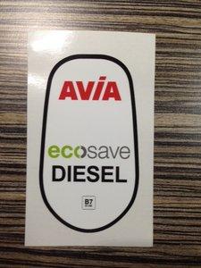 AVIA Ecosave Diesel kleine sticker B7