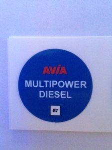 AVIA Nozzlesticker Multipower Diesel B7