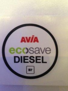 AVIA Nozzlesticker ecosave Diesel